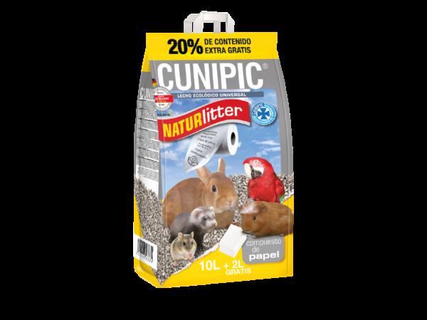Naturlitter CUNIPIC Lecho Ecológico Universal · 10L + 2LGratis - 20% Contenido Extra