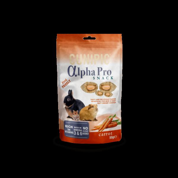 Snack para roedores de zanahoria